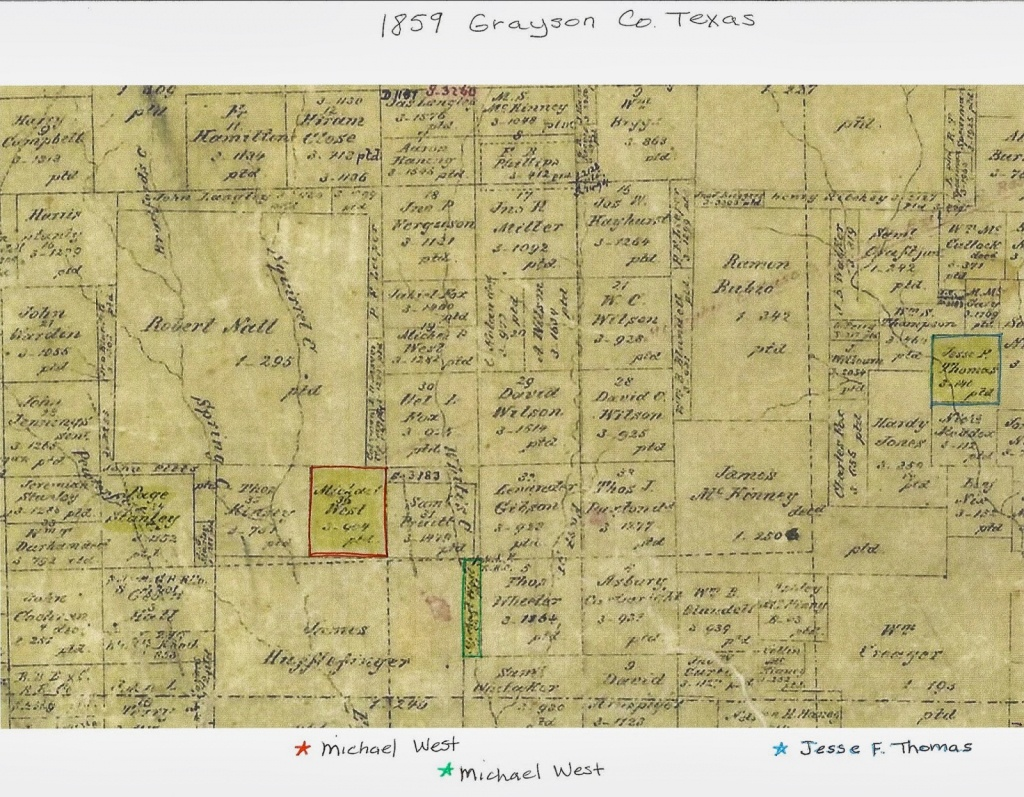 Clmroots: Michael West Land In Grayson County, Texas - Texas Plat Maps