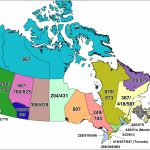 Cna  Canadian Area Code Maps   Us Area Code Map Printable