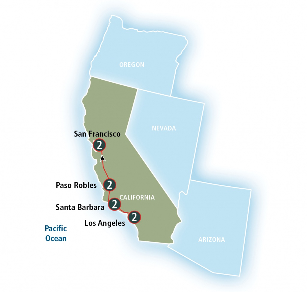 Coast Starlight | Amtrak Vacations - Amtrak California Surfliner Map