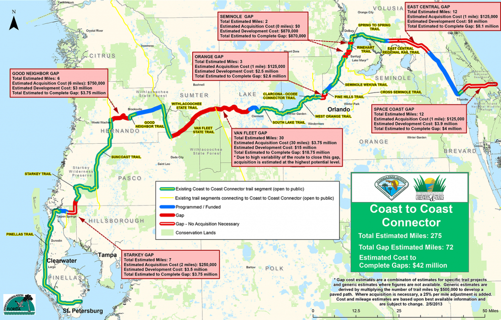 Coast To Coast Connector     Commute Orlando - Rails To Trails Florida Map