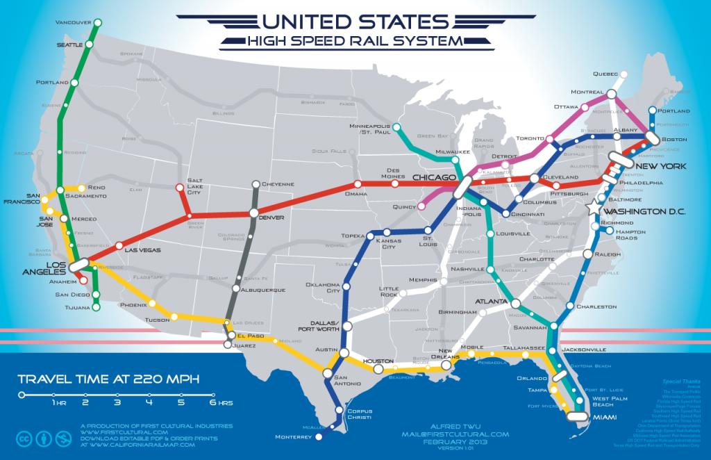 Coast-To-Coast High Speed Rail Map: Fantasy To Reality?   Michigan Radio - Amtrak Station Map Florida