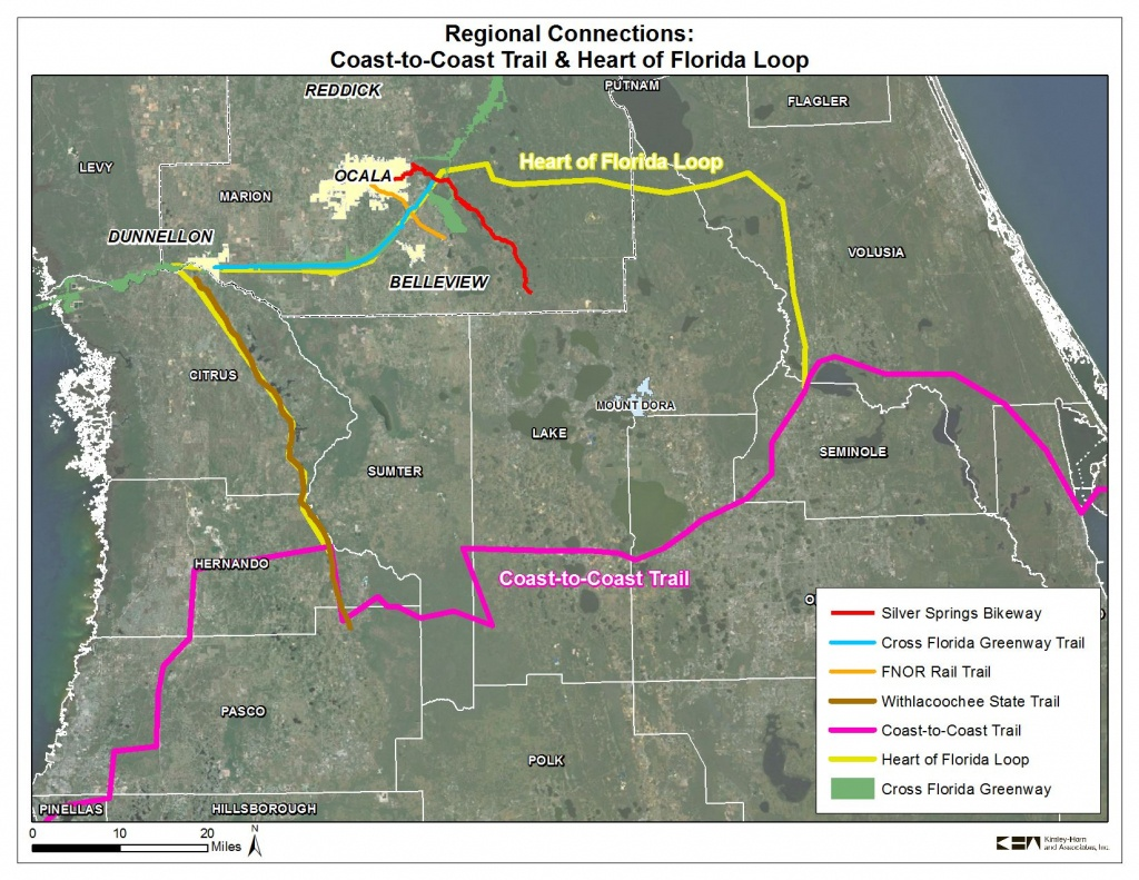 Coast To Coast Trail And Heart Of Florida Loop | 2035 Bicycle And - Florida Bike Trails Map