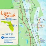 Cocoa Beach Tourist Map   Cocoa Beach Florida Map