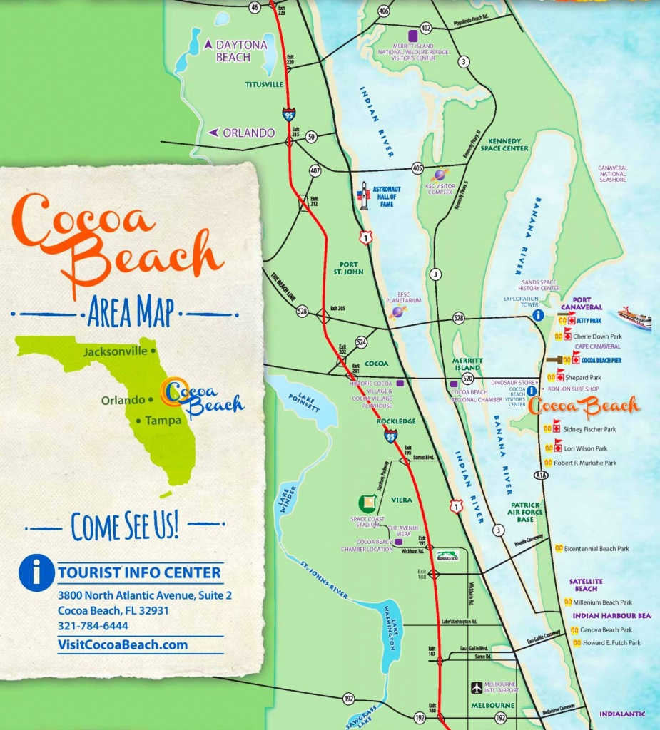 Cocoa Beach Tourist Map - Map Of South Florida Beaches
