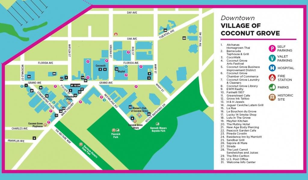 Coconut Grove Miami | » Maps - Coconut Grove Florida Map