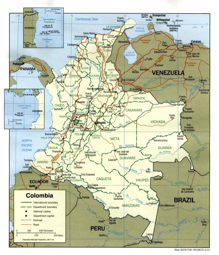Colombia Maps | Printable Maps Of Colombia For Download - Printable Map Of Colombia