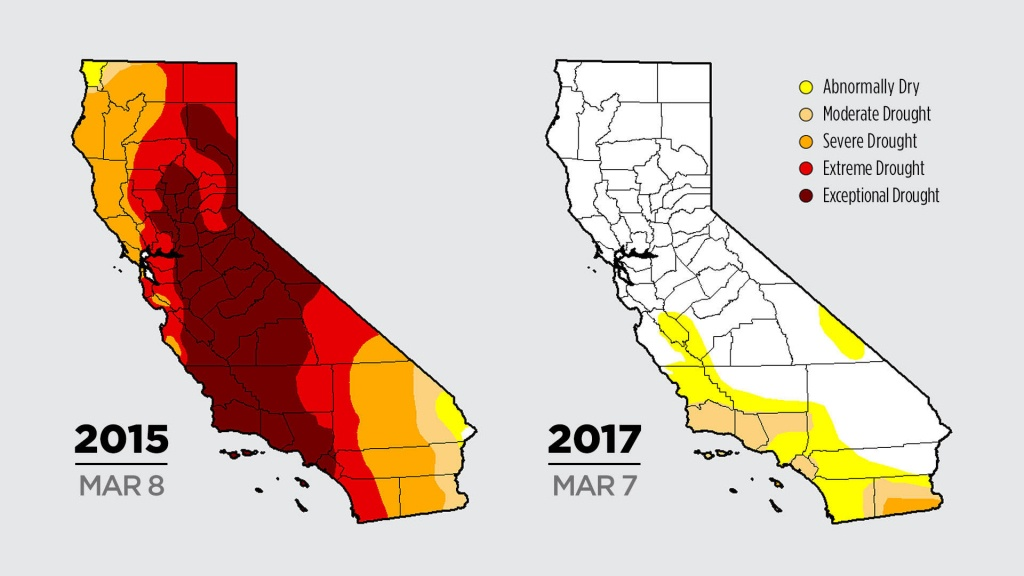 Color Me Dry: Drought Maps Blend Art And Science -- But No Politics - California Drought Map 2017