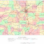 Colorado Printable Map   Printable Map Of Colorado Springs