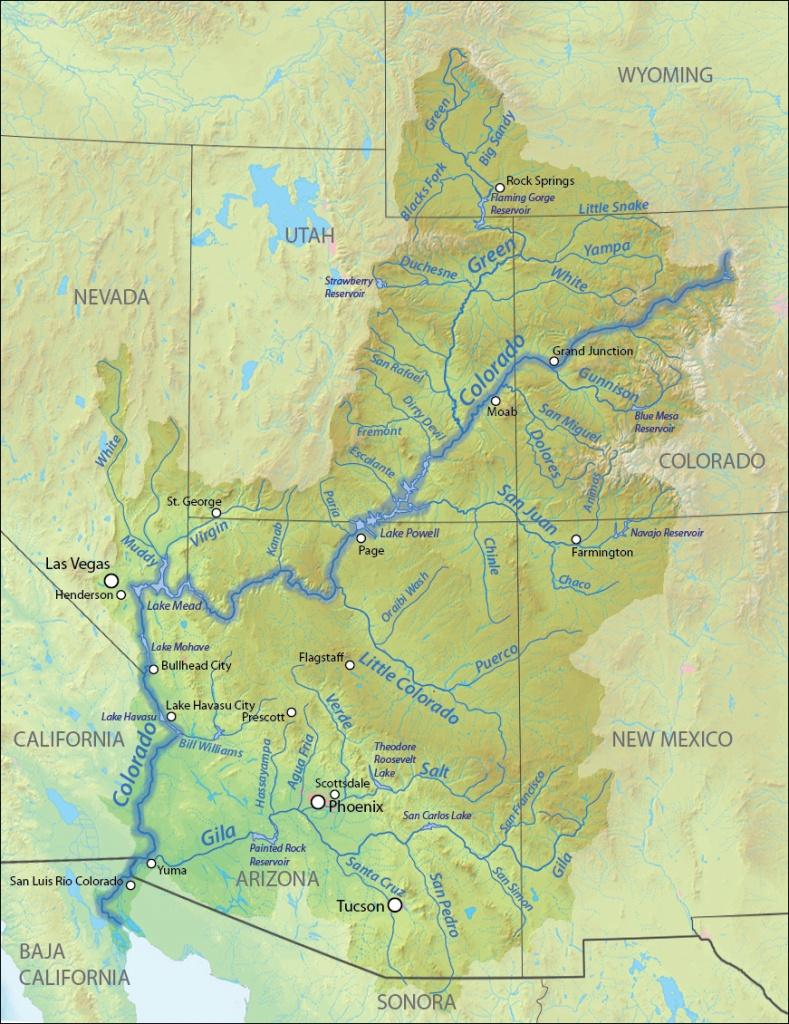 Colorado River | American Rivers - Colorado River Map Texas