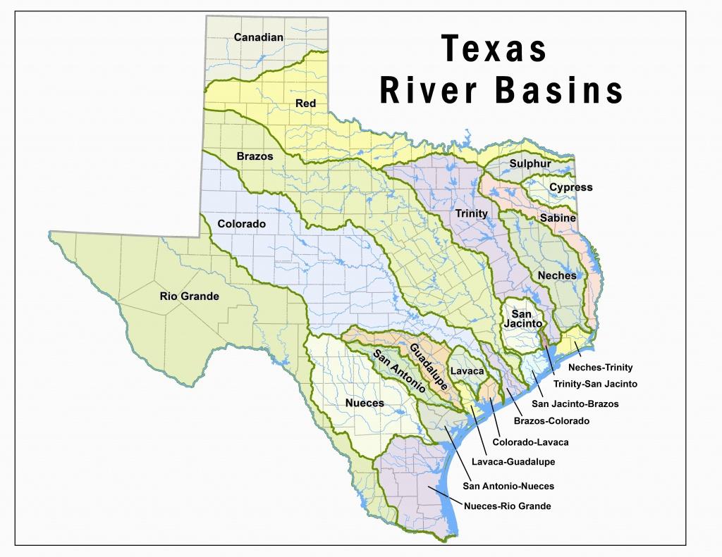 Colorado River Basin Map | Secretmuseum - Colorado River Map Texas