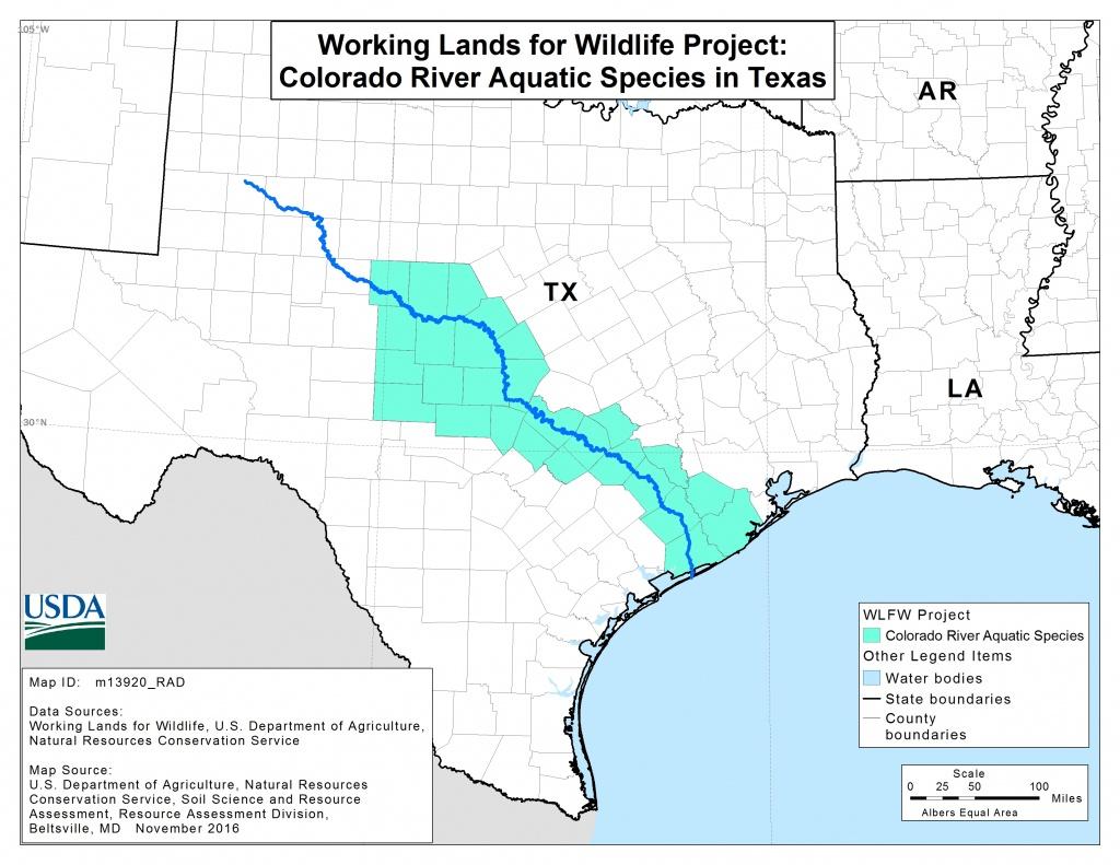 Colorado River Mussels Project | Nrcs - Colorado River Map Texas