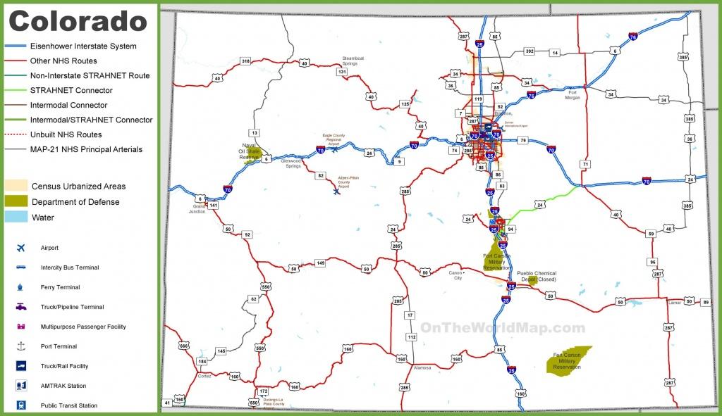 Colorado Road Map - Printable Map Of Colorado