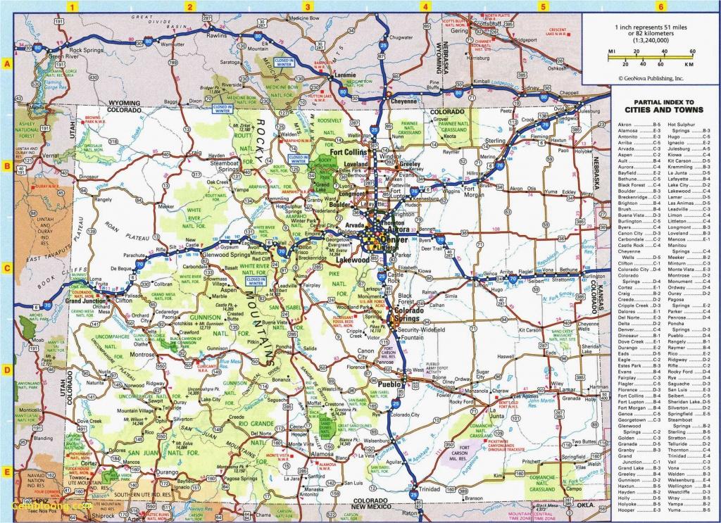 Colorado Road Map Printable   Secretmuseum - Printable Map Of Colorado