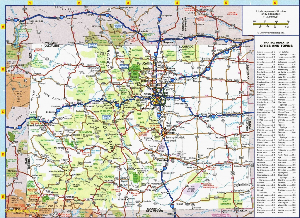 Colorado Road Map Printable | Secretmuseum - Printable Road Maps