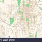 Colorado Springs Colorado Printable Map Excerpt. This Vector   Printable Map Of Colorado Springs