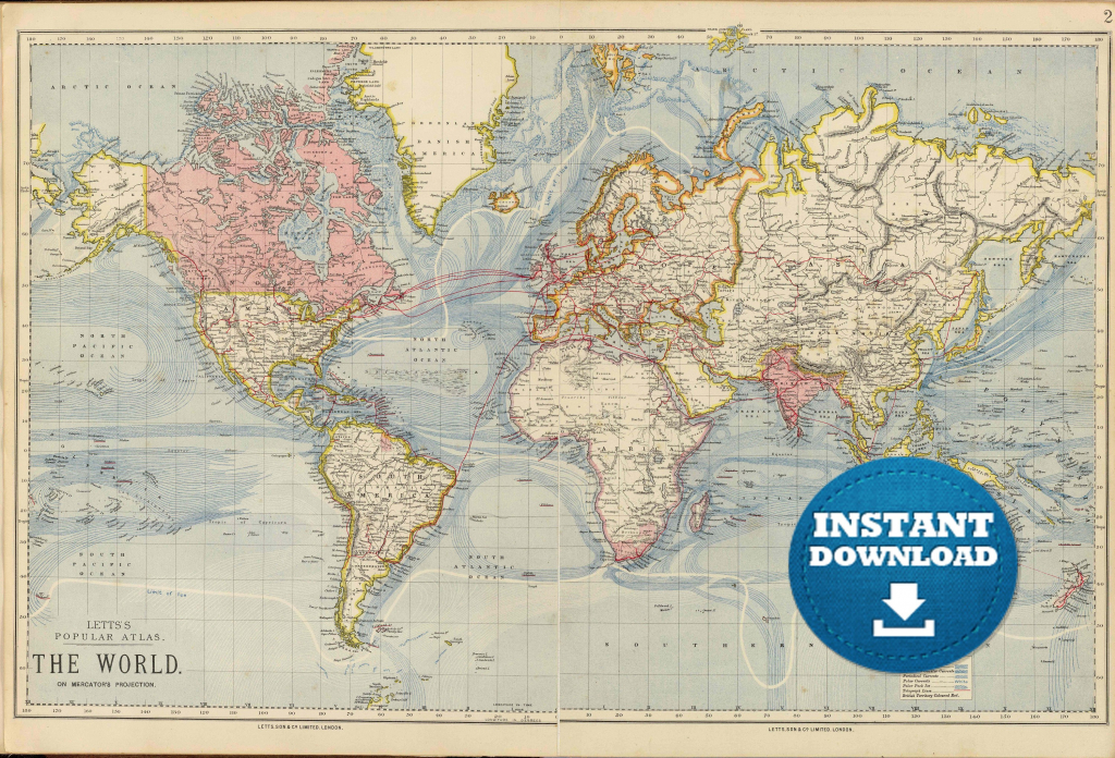 Coloring ~ Free Printable World Map For Kids Within Roundtripticket - Free Printable World Map Poster