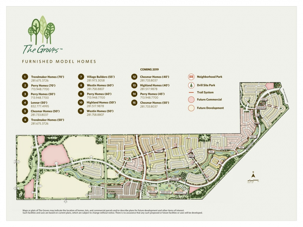 Community Map | The Groves: Houston Homes From The $200S - $600S - Groves Texas Map