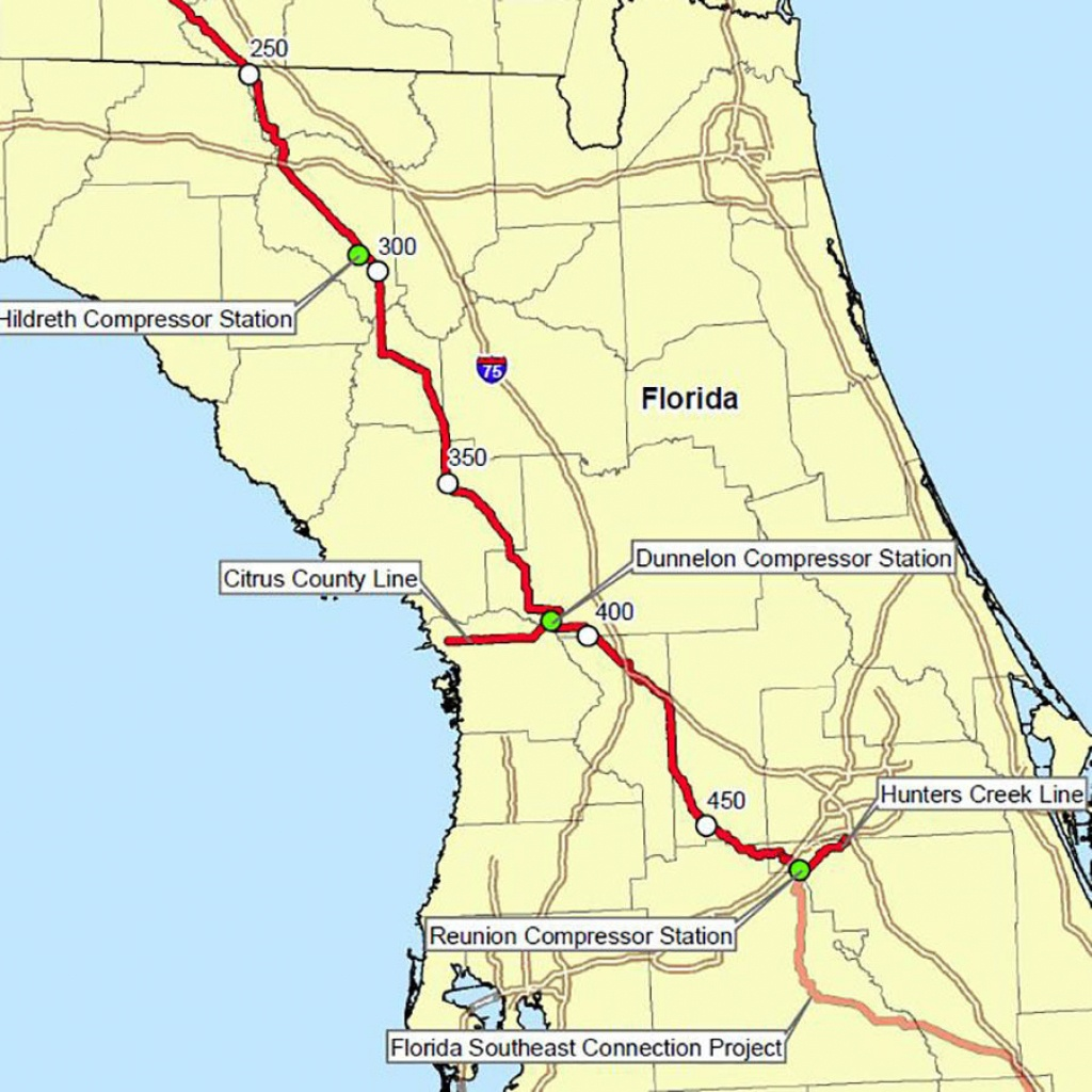 Company Says Its Natural Gas Pipeline 'operated Safely' Through - Florida Natural Gas Pipeline Map