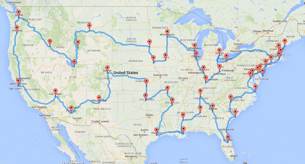 Computing The Optimal Road Trip Across The U.s.   Dr. Randal S. Olson - California To Florida Road Trip Map