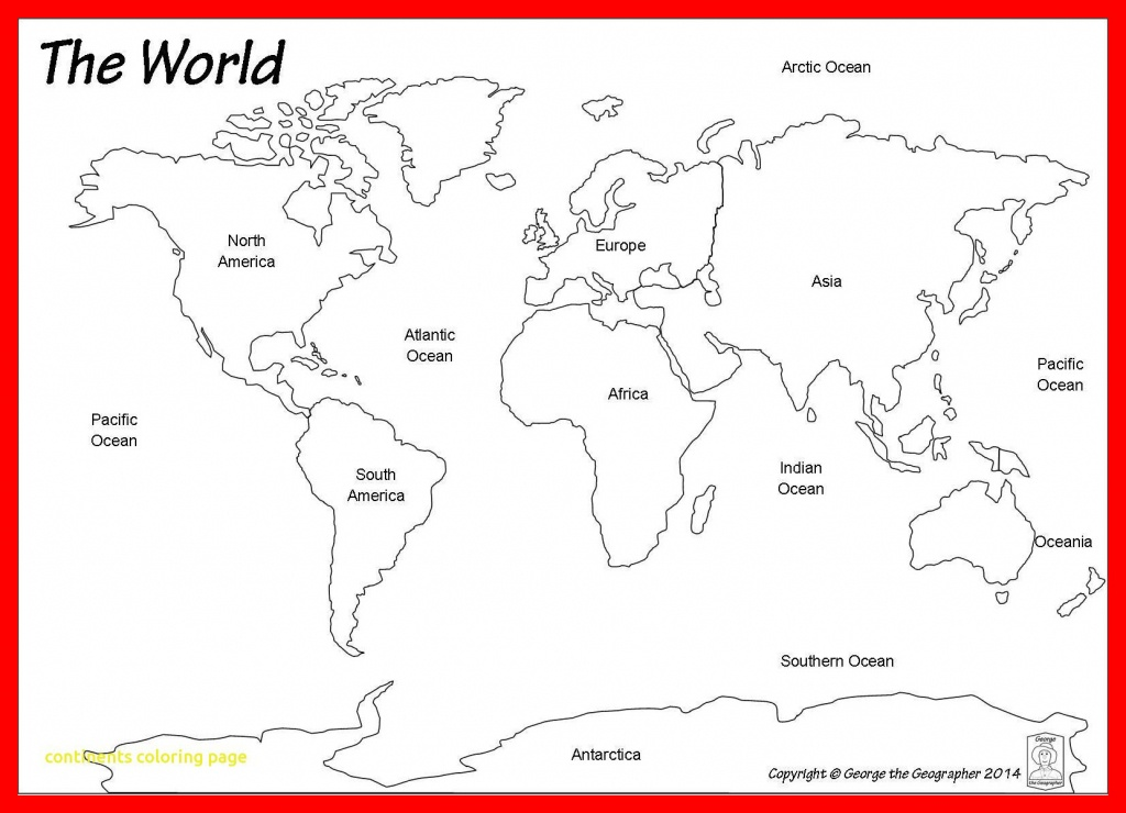 Continents Coloring Page Splendid Continents Coloring Page 7 Pages - Coloring World Map Printable