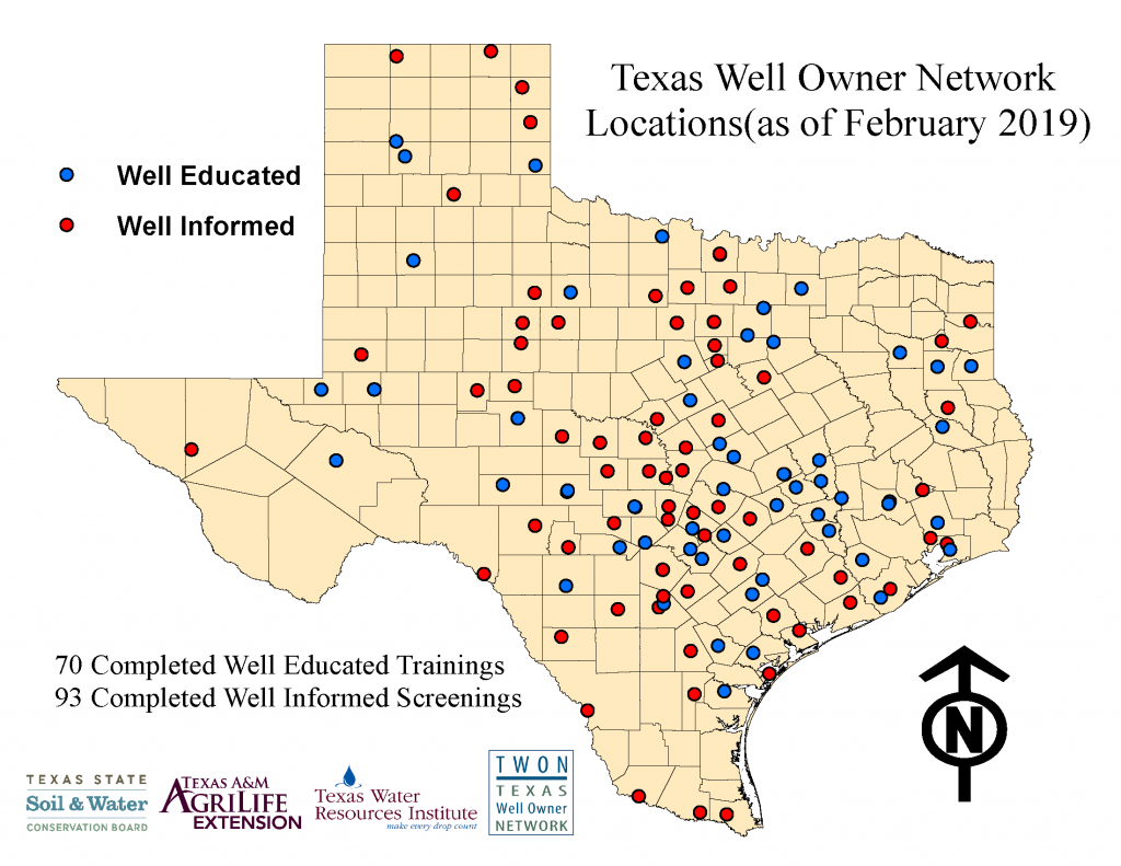 Continued Statewide Delivery Of The Texas Well Owner Network (Twon3 - Texas Water Well Location Map