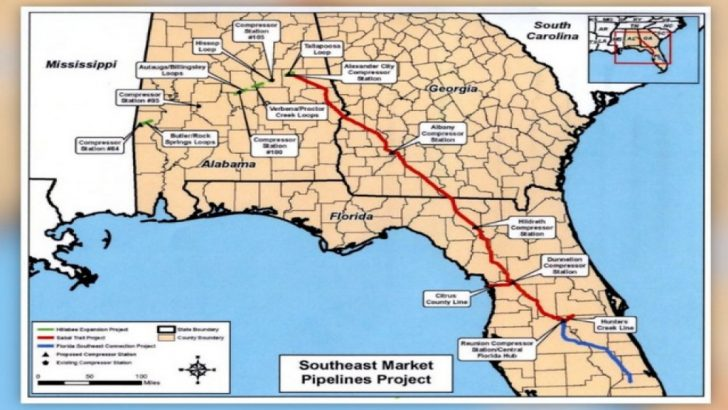 Florida Natural Gas Pipeline Map