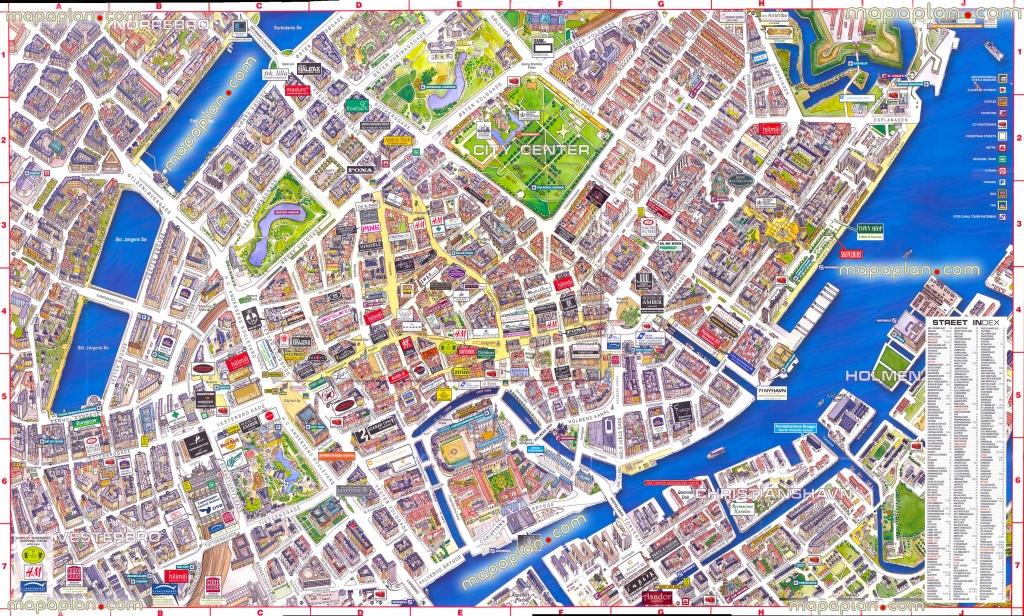 Copenhagen Map - Virtual Interactive 3D Map Of Copenhagen, Denmark - Free Printable Satellite Maps