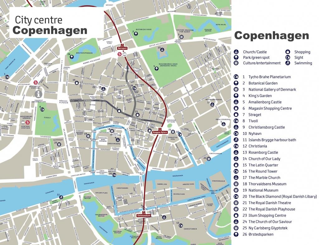 Copenhagen Maps | Denmark | Maps Of Copenhagen - Printable Map Of Copenhagen
