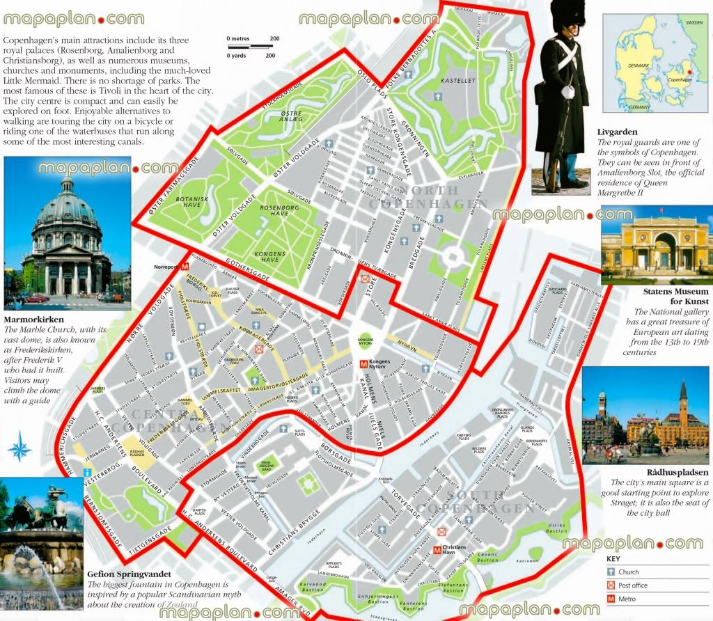 Copenhagen Maps - Top Tourist Attractions - Free, Printable City - Free Printable City Maps
