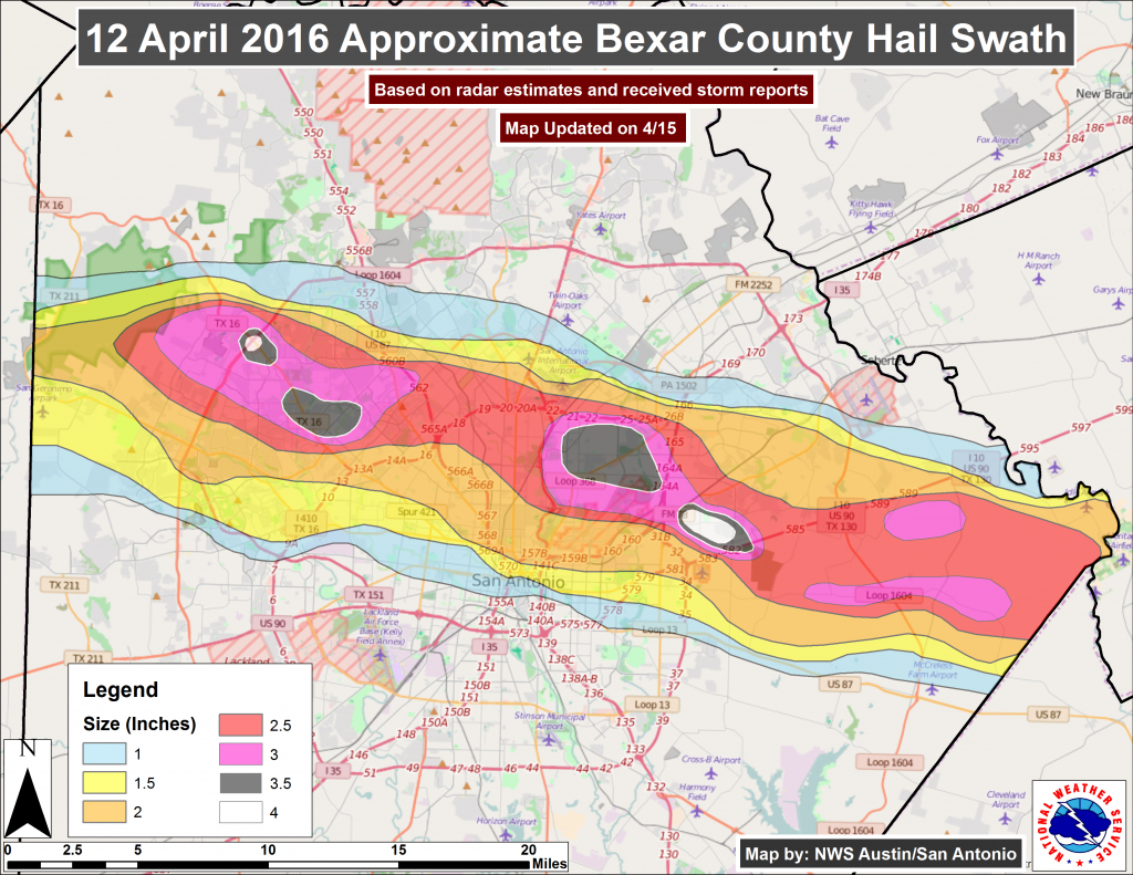 Corelogic Pegs Total Damage From Texas Spring Hail Storms At Nearly - Texas Hail Storm Map