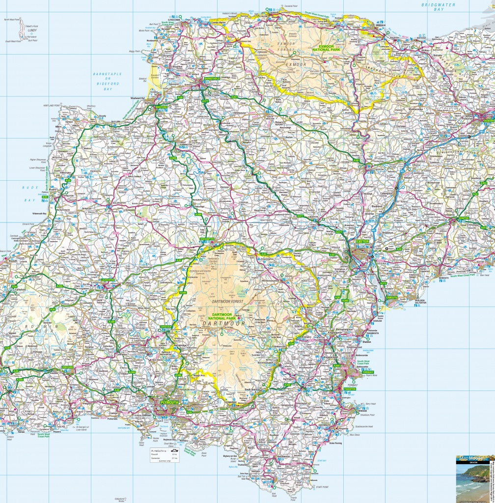 Cornwall Offline Map, Including The Cornish Coastline, Lands End - Printable Map Of Cornwall