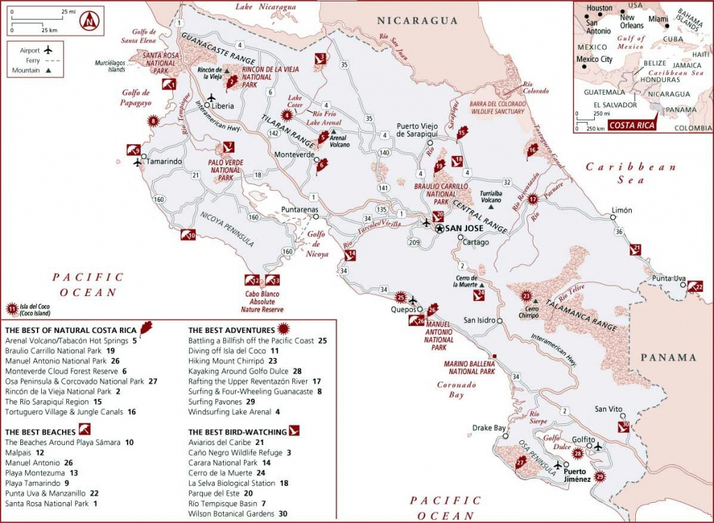 Costa Rica Maps | Printable Maps Of Costa Rica For Download - Printable Map Of Costa Rica