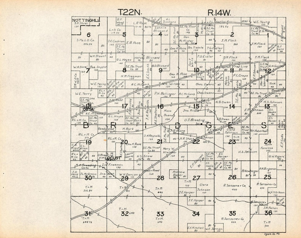 County Info Links - Texas County Missouri Plat Map