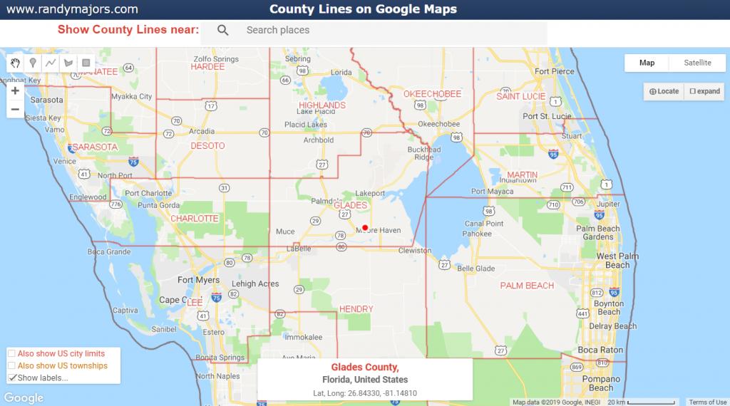 County Lines On Google Maps | Www.randymajors - Maps Google Florida Usa