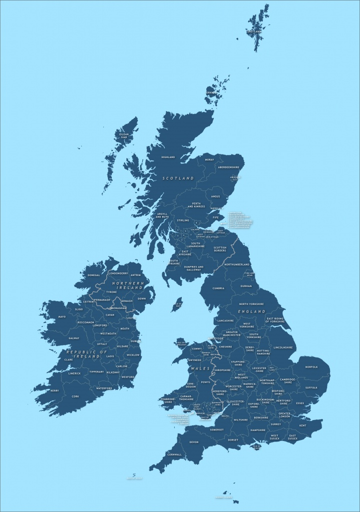 County Map Of Britain And Ireland - Royalty Free Vector Map - Maproom - Printable Map Of Ireland And Scotland