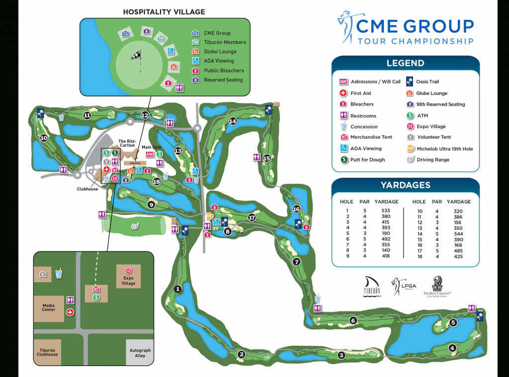 Course Info | Cme Group Tour Championship - Golf Courses In Naples Florida Map