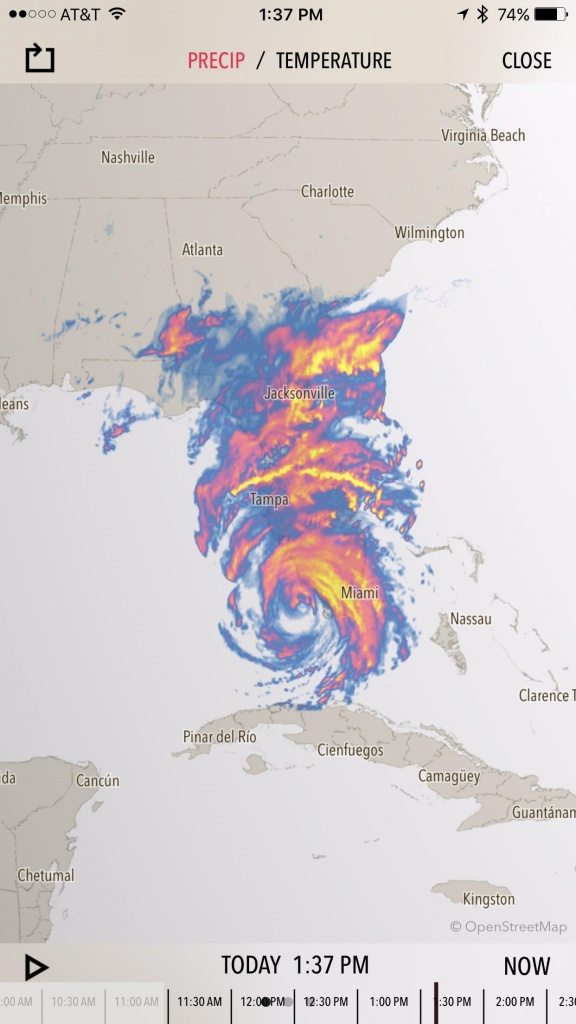 Crazy Weather Map. #irma Has Consumed Florida : Tropicalweather - Florida Weather Map Today