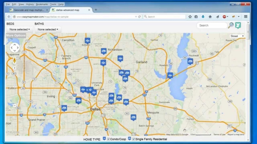 Create A Map: Easily Map Multiple Locations From Excel Data - Create Printable Map With Pins