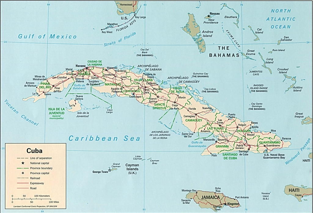 Cuba Maps - Perry-Castañeda Map Collection - Ut Library Online - Printable Map Of Cuba