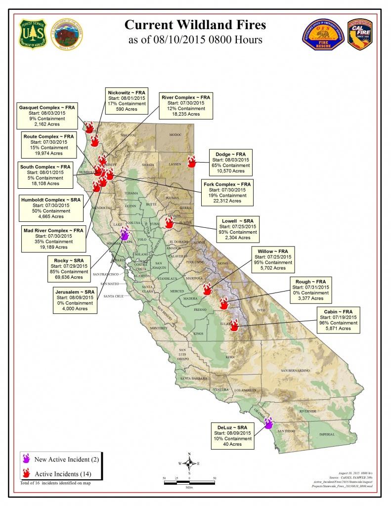 Current Fire Map – Kibs/kbov Radio Regarding Map Of California Fires - California Fire Map Now
