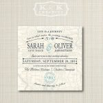 Custom Map Printable Wedding Invitation 5X5Kandkcreative, $20.00   How To Create A Printable Map For A Wedding Invitation