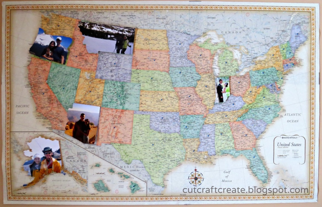 Cut, Craft, Create: Personalized Photo Map {For Our Paper Anniversary} - Printable Map With Pins