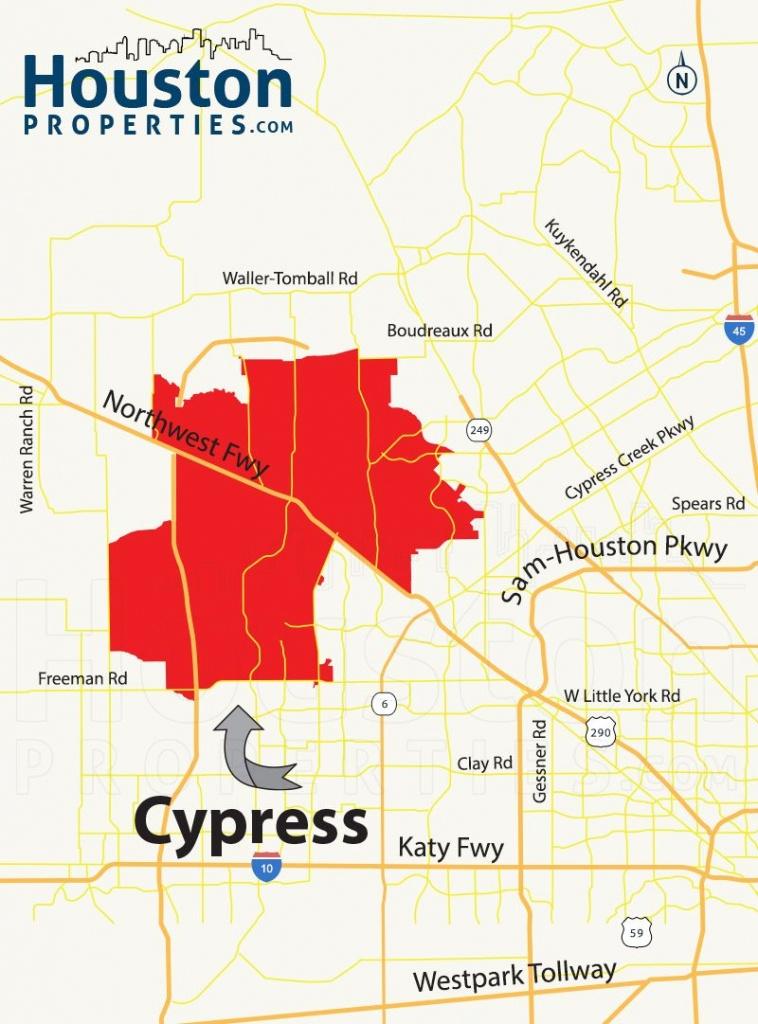 Cypress Tx Map   Great Maps Of Houston   Houston Neighborhoods - Stafford Texas Map