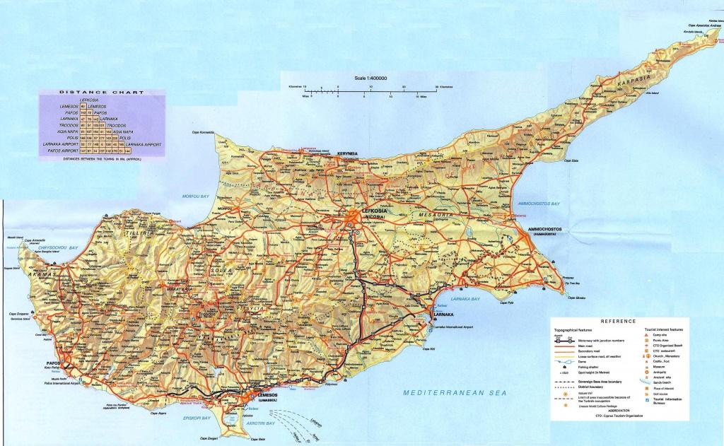 Cyprus Maps   Printable Maps Of Cyprus For Download - Printable Map Of Cyprus