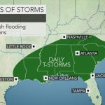 Daily Downpours To Raise Risk Of Flooding From Texas To The Carolinas   Flood Maps Gainesville Florida