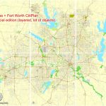 Dallas + Fort Worth Tx Pdf Map, Us, Exact Vector Street Cityplan Map   Printable Map Of Dallas