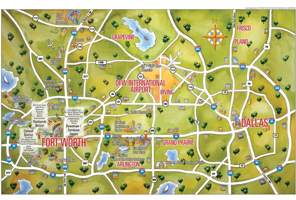 Dallas Maps   Texas, U.s.   Maps Of Dallas - Texas Sightseeing Map