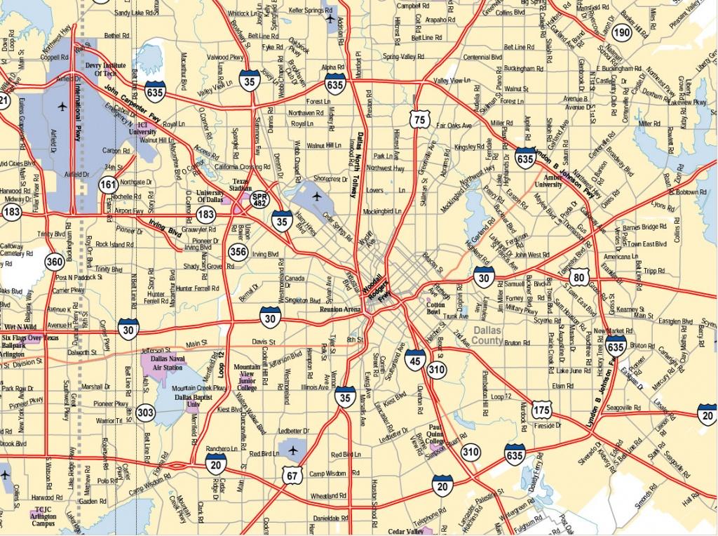 Dallas Texas City Map - Dallas Texas Usa • Mappery - Dallas Map Of Texas