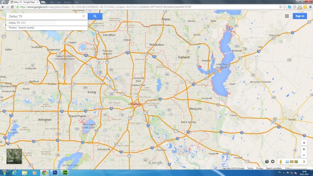 Dallas, Texas Map - Google Maps Harlingen Texas