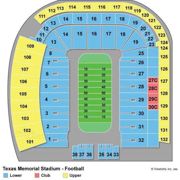 Dkr Texas Memorial Stadium Map